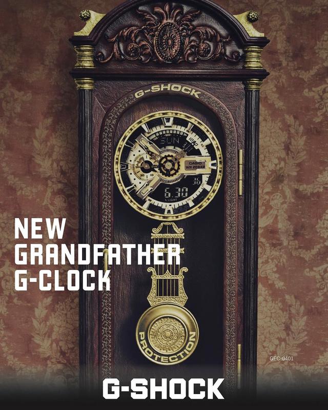 Jam Dinding G-Shock GFC-0401 Grandfather G-Clock Vintage