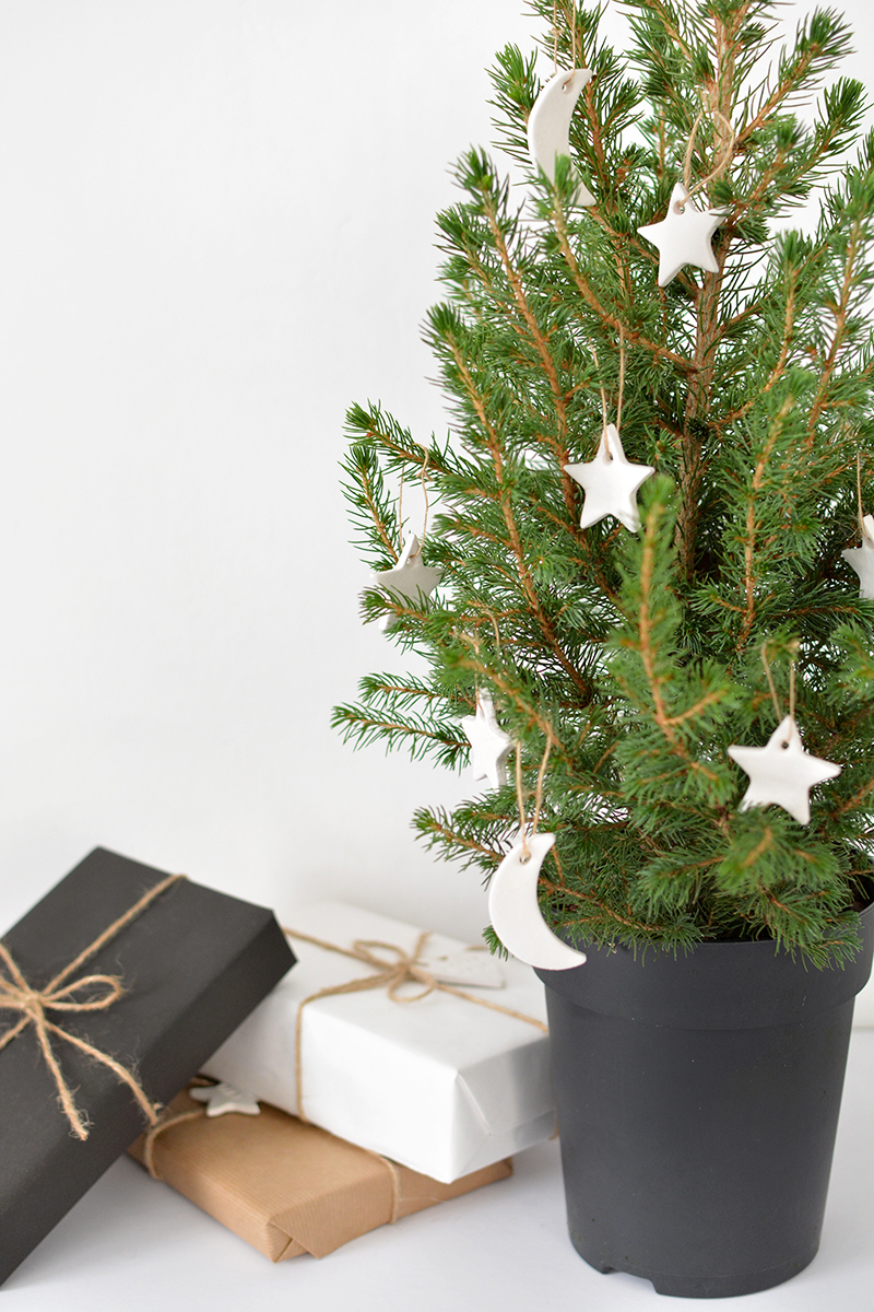 DIY scandi tree decorations