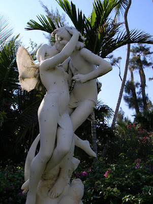 Marble sculpture of Cupid and Psyche, Versailles Gardens, Paradise Island, Bahamas.