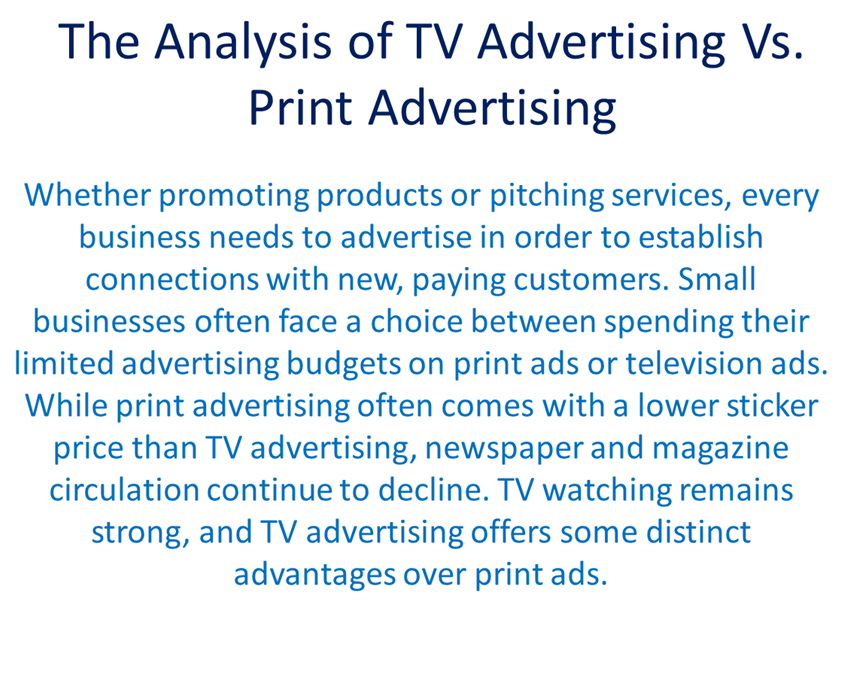 analysising television advertisements music products • music, popular songs and jingles create pneumonic devices to program or trigger your memory (some songs are used for nostalgic reasons, while others are used to cross promote products, ie cars and moby's.