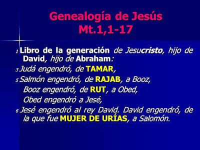 Resultado de imagen para cinco mujeres citadas en la genealogía de jesus