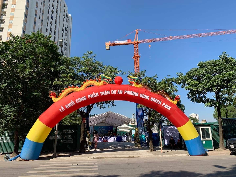 Lễ khởi công phần thân dự án Phương Đông Green Park