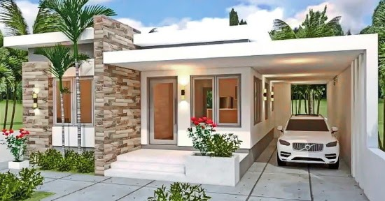 Lingkar Warna 7 Desain Inspiratif Rumah Ukuran 10x12 1 Lantai 3 Kamar Tidur