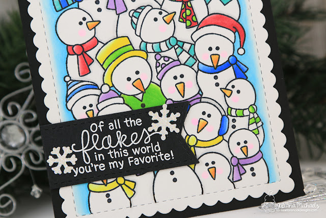 Favorite Flake Snowman Card by Juliana Michaels featuring Newton's Nook Designs Frozen Fellowship Stamp Set