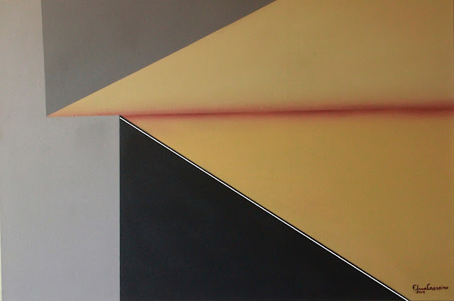 Formas planas, geometria abstrata, arte de Elma Carneiro