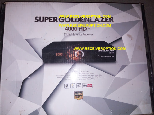 SUPER GOLDEN LAZER 4000 HD RECEIVER FLASH FILE WITH CA CARD SLOT OPTION