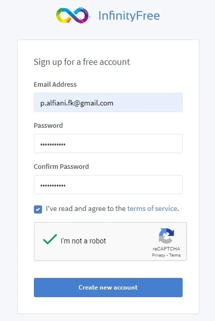 Register Akun Infinity Free