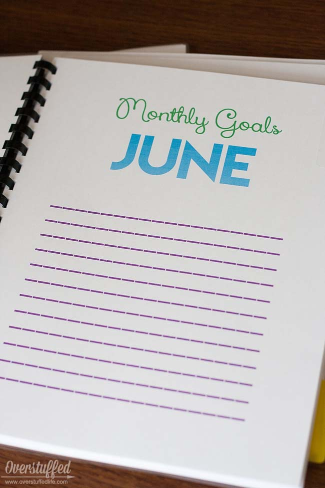 Goal setting and accountability is an essential skill for children to learn. Help them set goals and follow through with them by using this summer goal setting workbook. #overstuffedlife