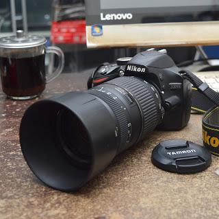 Kamera DSLR Nikon D3200 Second di Malang
