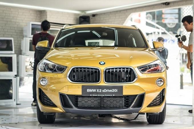 BMW X2 sDrive 20i. 2021. Màu vàng chanh. Mới 98%