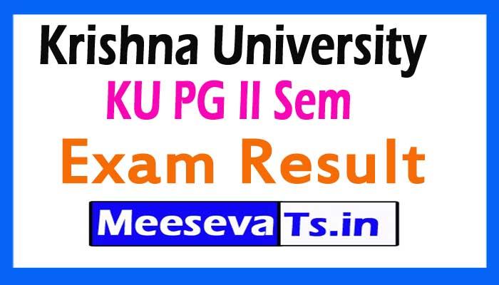 Krishna University PG 2nd sem Exam Results 2017