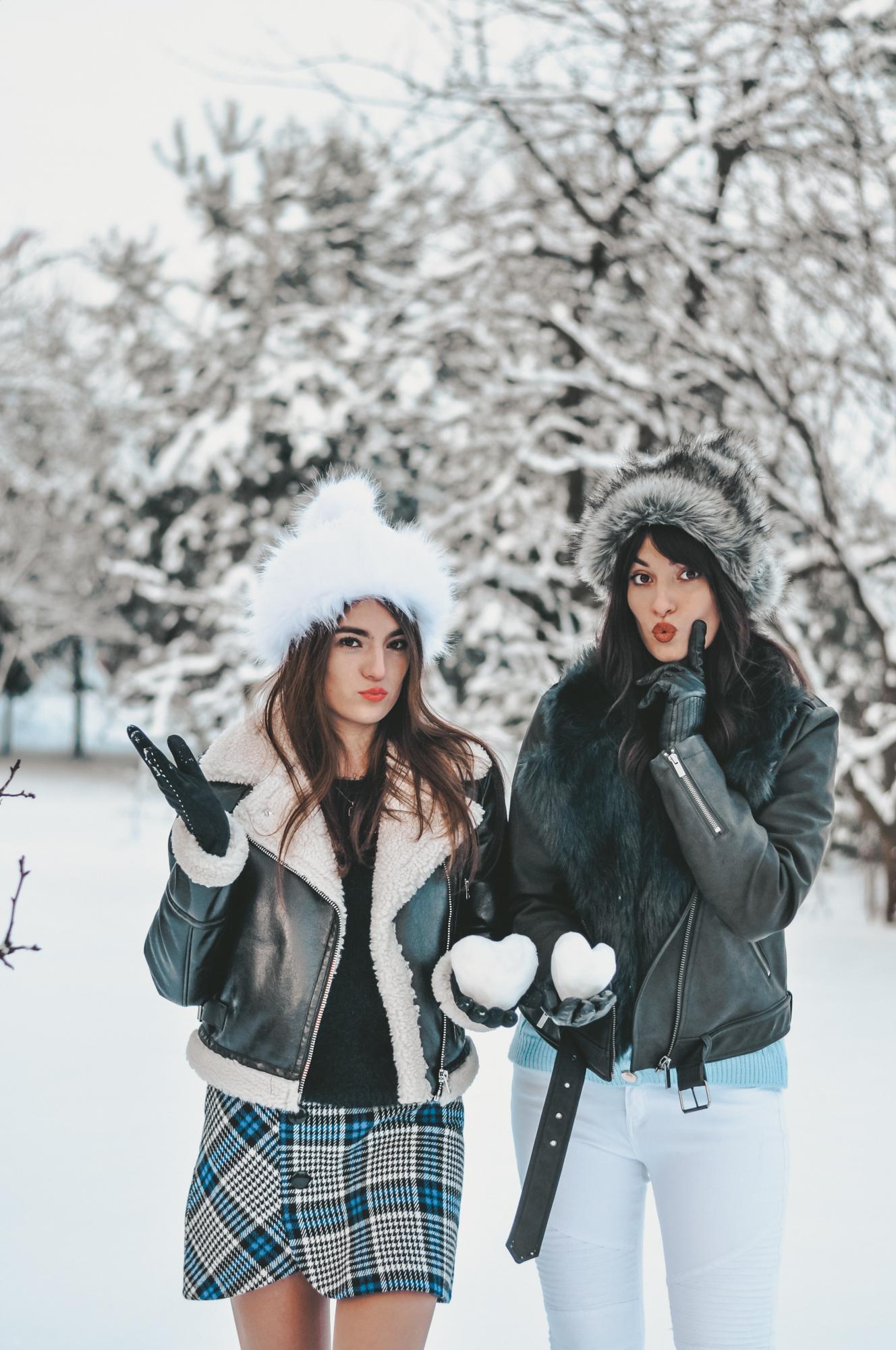 pomysł na zimowe zdjęcia dziewczyn