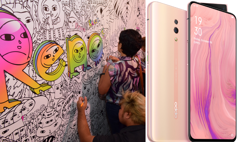 OPPO unveils pop-up art exhibit in BGC, outs Reno Sunset Rose colorway