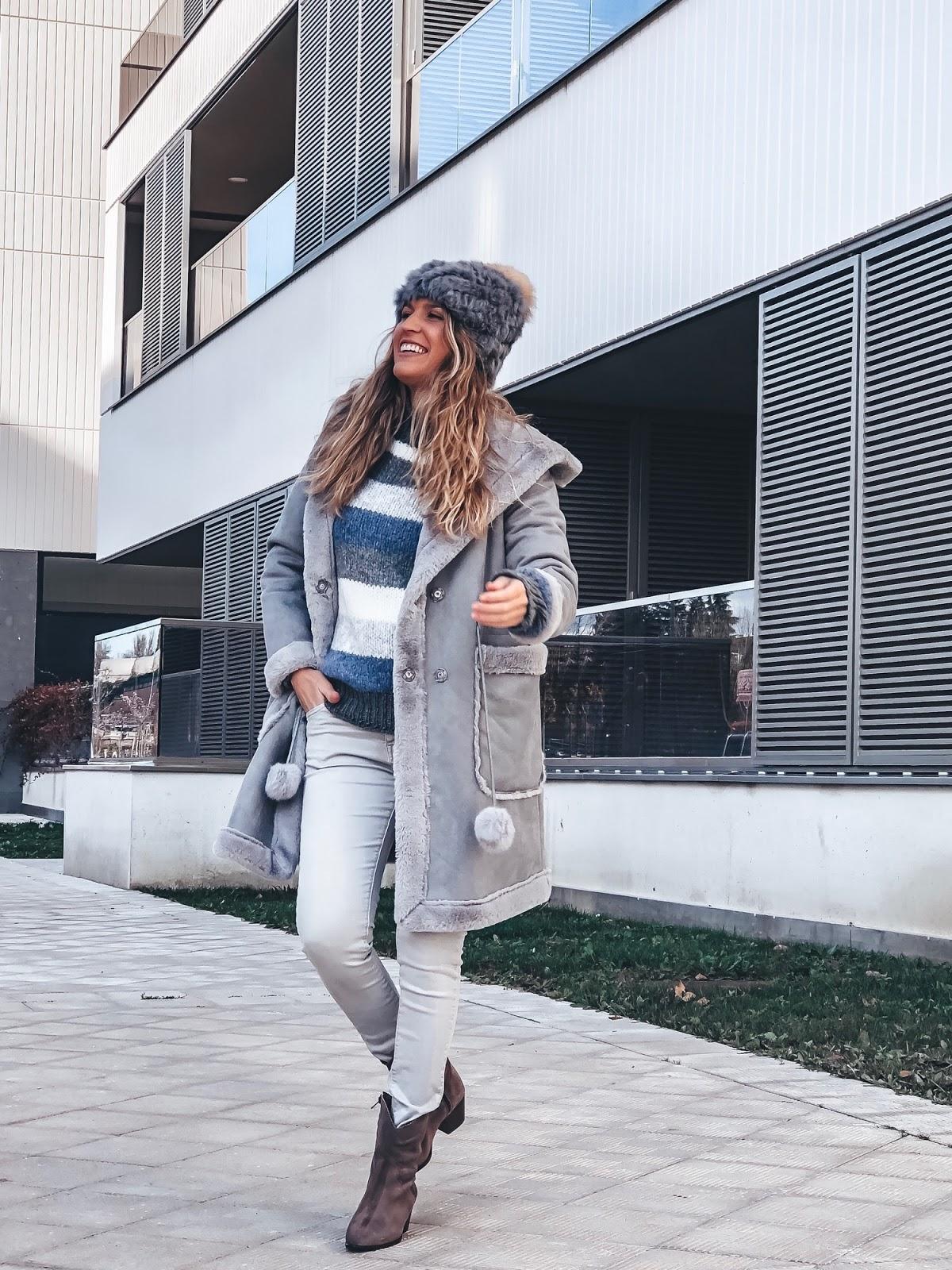 abrigo gris antelina