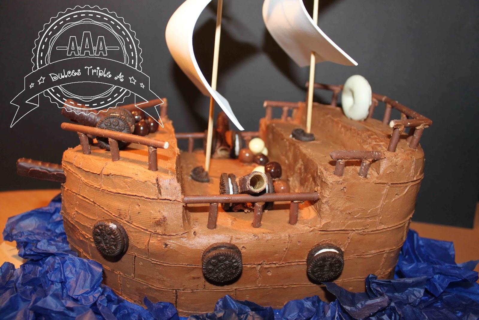 Tarta Barco Pirata. Para el Príncipe de mi Casa | DULCES TRIPLE A
