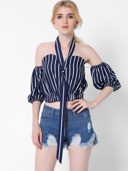 crop top a righe tendenze primavera estate 2017 fashion moda style shopping on line fashion blog italiani color block by felym mariafelicia magno
