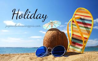 Materi dan Soal Bahasa Inggris 'Holiday' (Hari Libur) Kelas 6 SD