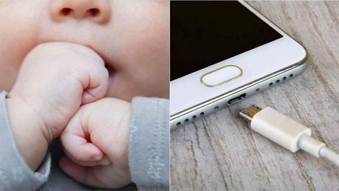 FALTOU COMUNICAÇÃO  Criança morre ao colocar cabo de celular na boca