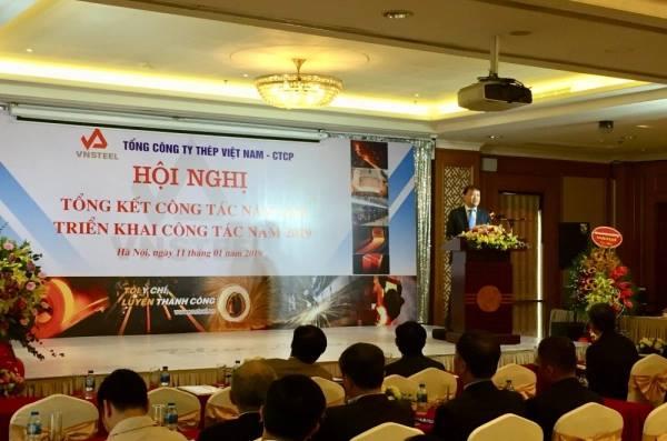 Thứ trưởng Đỗ Thắng Hải chia sẻ tại hội nghị tổng kết ngành thép sáng 11/1