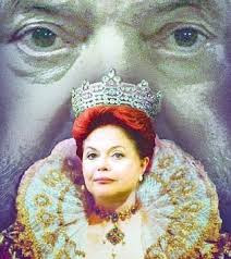 Dilma, a Rainha da Inglaterra na versão pixuleco