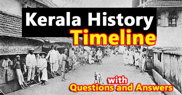 kerala history timeline