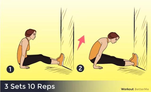 Triceps focused push ups