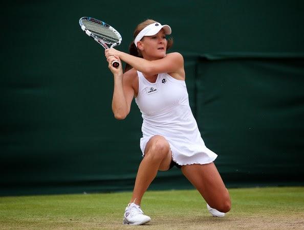 Radwanska Tenis Backhand Çift El Çömelerek