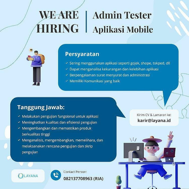 Lowongan Kerja Admin Tester Aplikasi Mobile