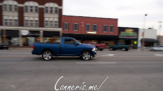Draggin Douglas Blue Dodge RAM