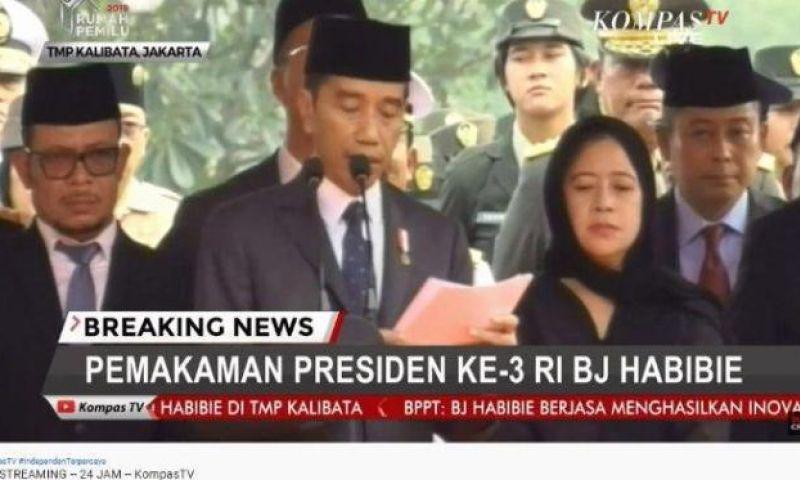 Jokowi Salah Ucap Kalimat Istirja' saat Sambutan Pemakaman BJ Habibie