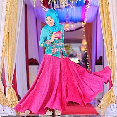 Contoh Model Baju Gamis Ala Dian Pelangi Terbaru