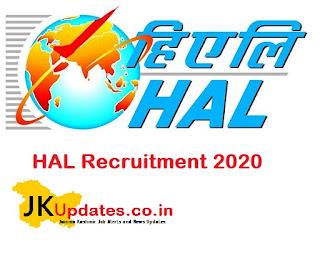HAL Recruitment 2020, All India Jobs, India Jobs, Jammu Kashmir Jobs,