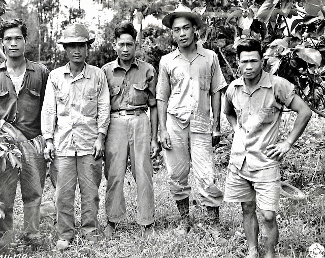 Men from Lipa who escaped Japanese atrocities in 1945.  Image source:  United States National Archives.
