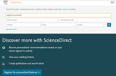 mencari jurnal internasional di sciencedirect