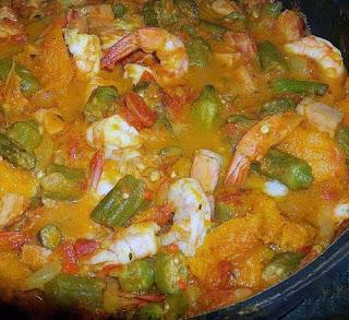 Senegal Seafood Okra Soup.