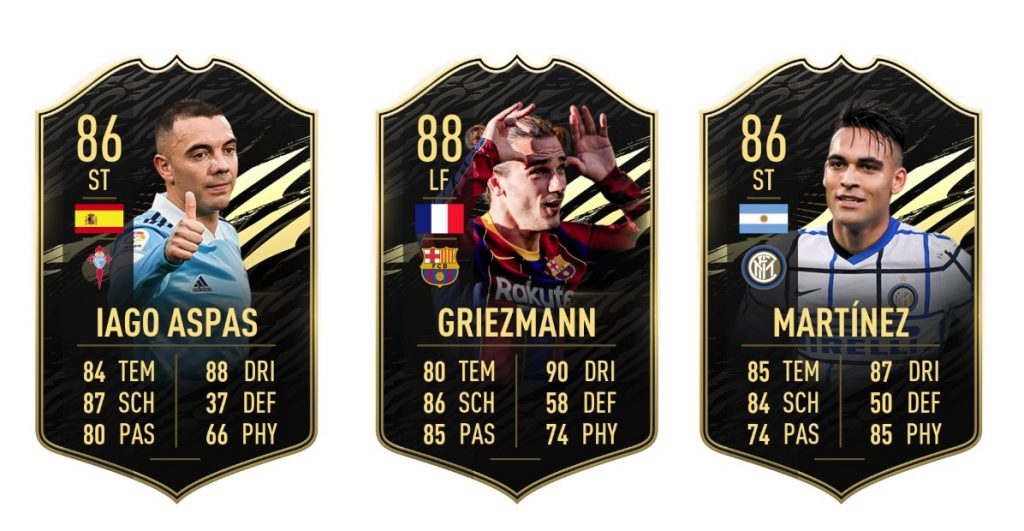 The top 3 players in TOTW 10