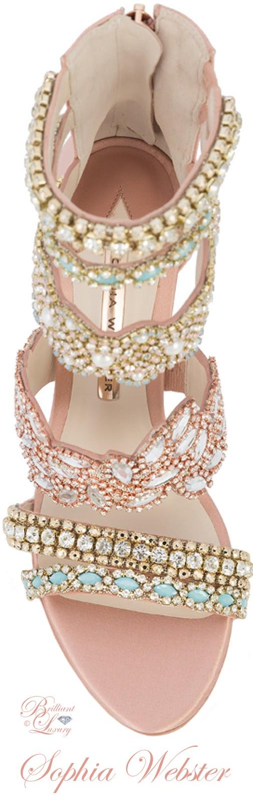 Brilliant Luxury ♦ Sophia Webster beaded strap sandals