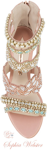 Brilliant Luxury ♦ Sophia Webster beaded strap sandals