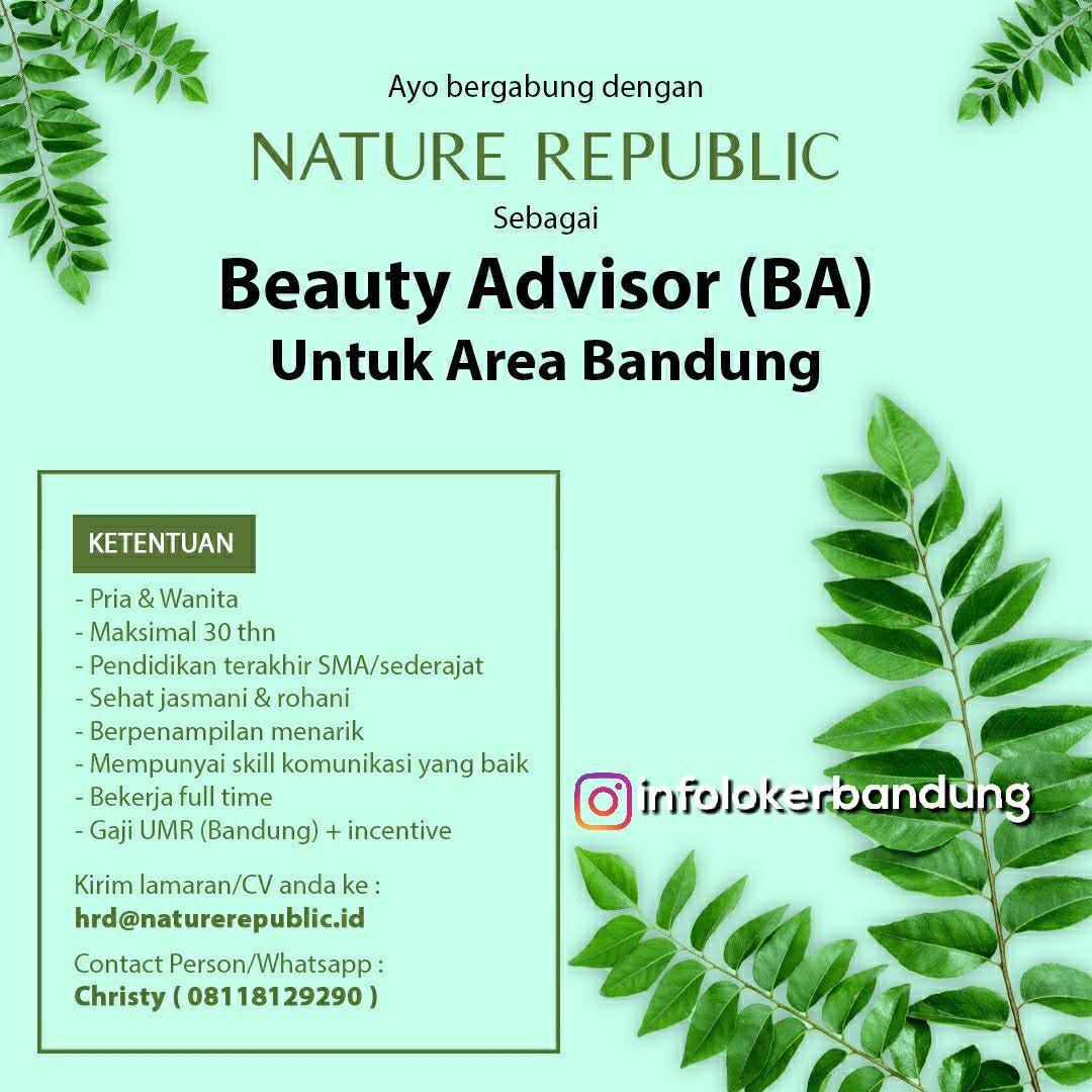 Lowongan Kerja Nature Republic Bandung Juli 2018