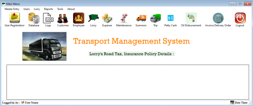 Transportation Management System In Vb Net With Source Code
