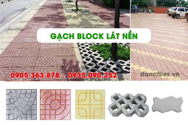 Gạch block lát nền vỉa hè