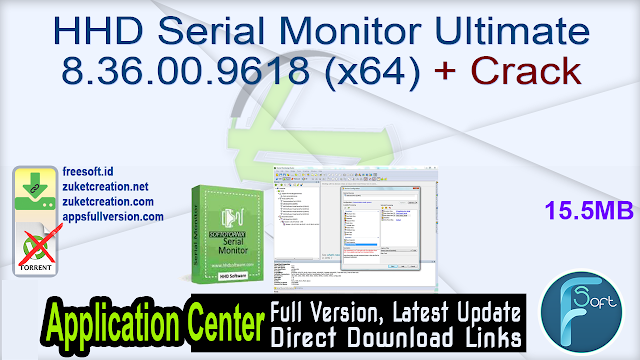 HHD Serial Monitor Ultimate 8.36.00.9618 (x64) + Crack