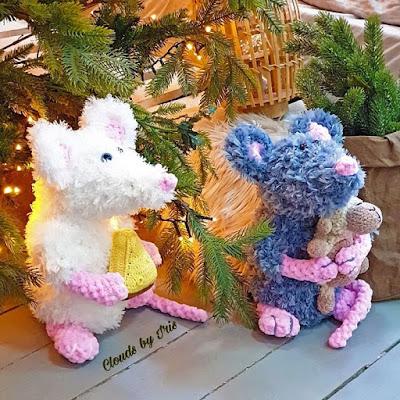 Вязаные крысы из Alize Puffy Fur