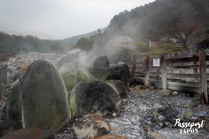 Terre brûlée et fumerolles, Myôban Jigoku, Beppu