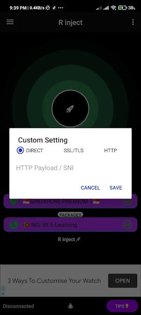تحميل تطبيق R Inject - Free SSHSSLHTTP Tunnel VPN APK