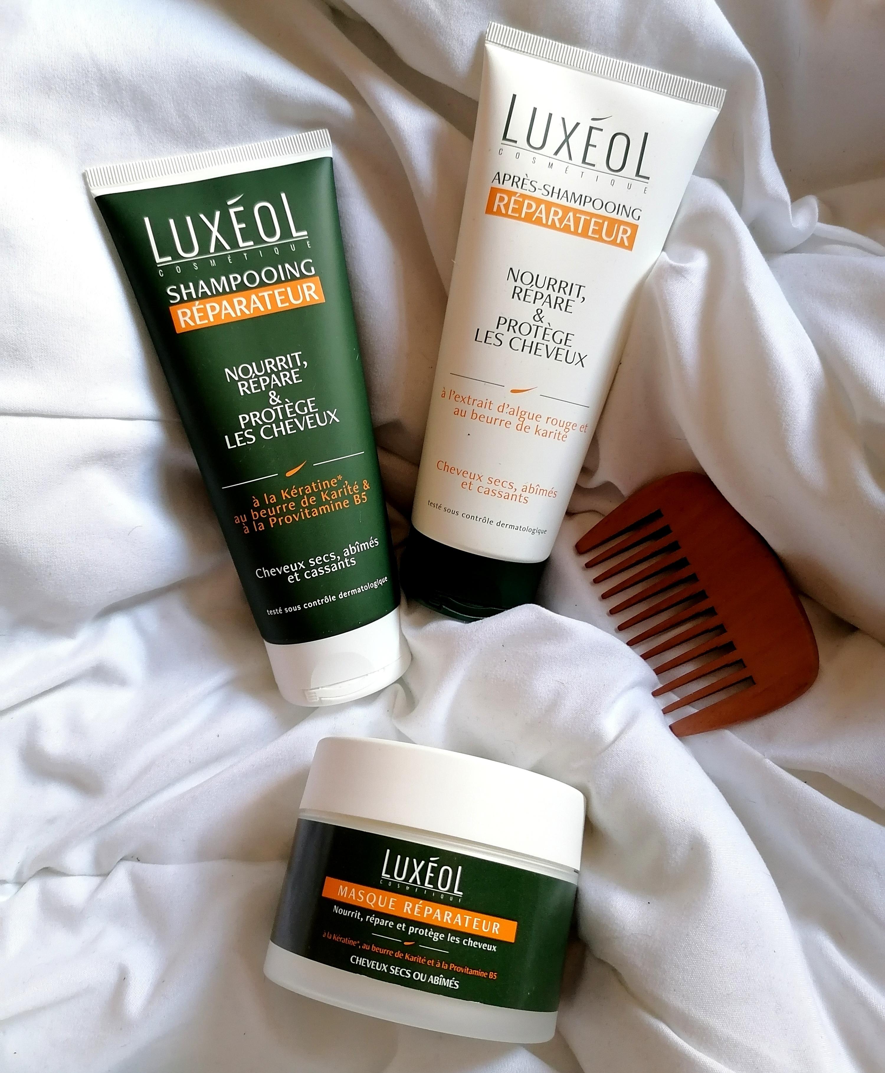 Mon avis sur la routine réparatrice cheveux de Luxéol !