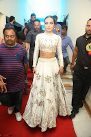 Catherine Tresa in Beautiful emroidery Crop Top Choli and Ghagra at Santosham awards 2017 curtain raiser press meet 02.08.2017 122.JPG