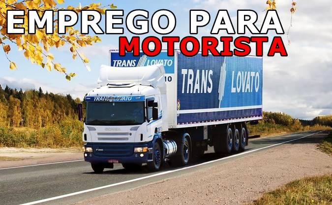 Translovato abre vagas para Motorista Carreteiro
