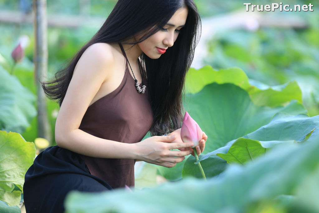 Image Vietnamese Model - Hong Rubyshi - Beauty Girl and Lotus Flower #1 - TruePic.net - Picture-9