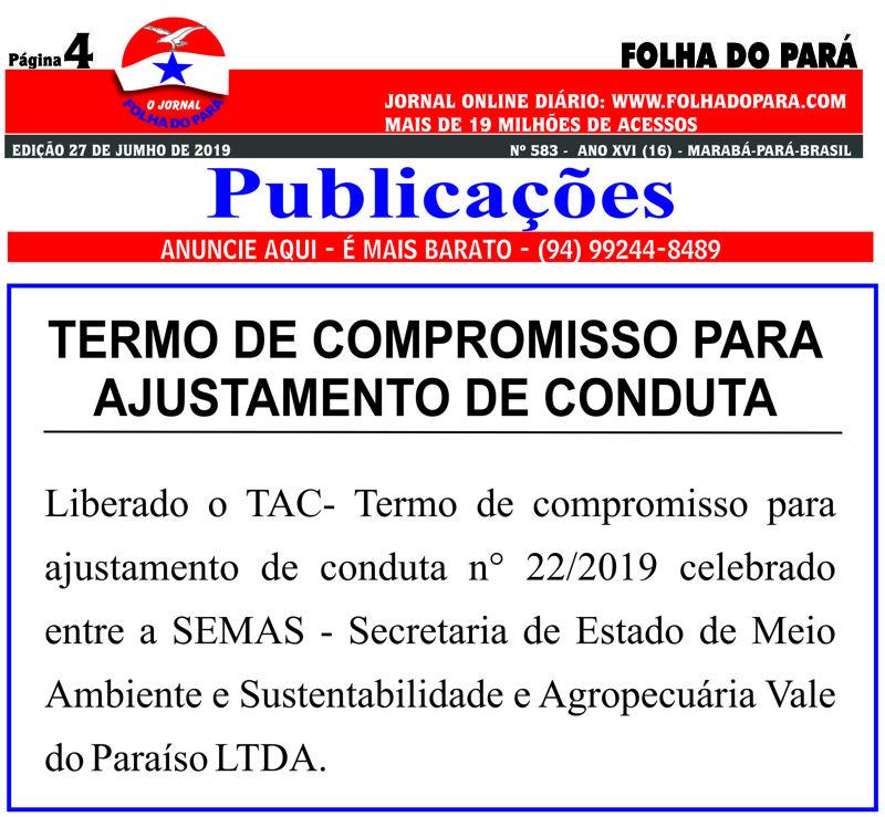 TERMO DE COMPROMISSO PARA AJUSTAMENTO DE CONDUTA